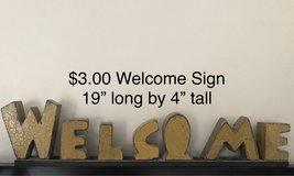 WELCOME sign for shelf in Joliet, Illinois