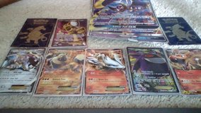 6 pokemon EX cards including card cases and giant card in Camp Lejeune, North Carolina