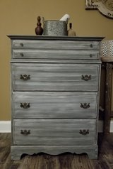 Refinished 4 drawer dresser chest in Naperville, Illinois