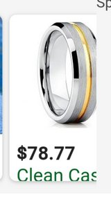 tungsten ring with gold band in Fort Knox, Kentucky