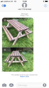 Brand New Solid Garden Table and Benched in Lakenheath, UK