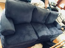 Blue Suede Sofa in Joliet, Illinois