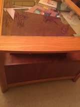 Cherish wood oak/ glass coffee table with matching end table in Joliet, Illinois