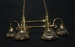 Ornate Shiny Brass Ceiling Light Fixtures ~ Matching Set Large & Small in Bolingbrook, Illinois