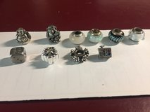 8 Charms for Pandora Bracelets - (4 Sterling Silver) in Batavia, Illinois
