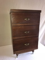 Mid Century side dressers, three drawers in Kingwood, Texas