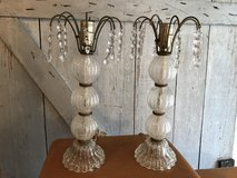 Frosted glass lamps with glass accents in Kingwood, Texas