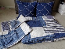 Pottery Barn King Quilt, shams and decor pillows UNUSED in Camp Lejeune, North Carolina