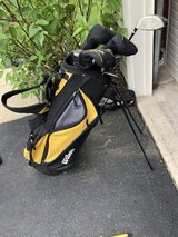 Bag and clubs in Aurora, Illinois