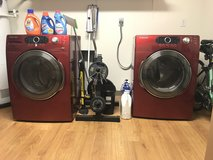 Red Samsung Washer and Dryer - Electric in Barstow, California