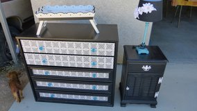 dresser/night stand/lamp-serving tray in 29 Palms, California