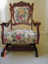 Antique platform rocker in Kingwood, Texas