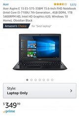 Acer Aspire E (Amazon link in comments) in 29 Palms, California