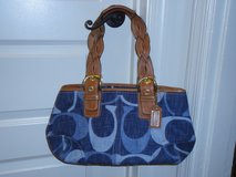 Authentic Blue Jeans Coach handbag in Fort Belvoir, Virginia