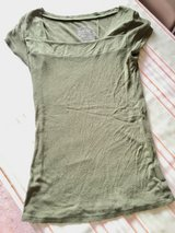 Olive Green short sleeve top by Derek Heart (L) in Naperville, Illinois