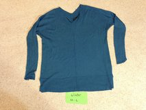 Dark Teal V neck Long sleeve knit top - L in Naperville, Illinois