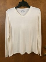White V Neck pull over sweater  (XL) in Naperville, Illinois