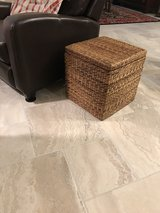 Wicker Storage Ottoman/Side Table in The Woodlands, Texas