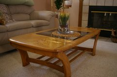 OAK AND GLASS COFFEE TABLE in Vacaville, California