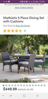 Brand new patio table with 2 chairs in Westmont, Illinois
