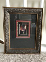 Framed ROOSTER Print in Kingwood, Texas