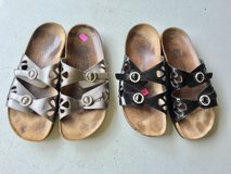 Tan & Black Sandals by Euro Wellness (9) in Plainfield, Illinois