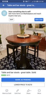 Nice Bar height Table and stools in Conroe, Texas