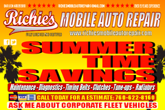 **RICHIE'S MOBILE AUTO REPAIR FULLY LICENSED AND CERTIFIED in Camp Pendleton, California