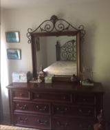 Bedroom set: Bed frame/headboard/dresser in Fort Jackson, South Carolina