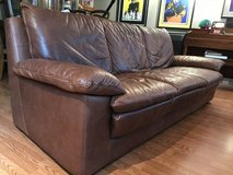 Natuzzi Brown leather couch in Bartlett, Illinois