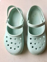 Women's Light Green/Blue Crocs (9) in Naperville, Illinois