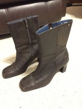 Short Brown boots by Tommy Hilfiger - Leather Upper in Plainfield, Illinois