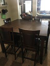 Tall kitchen table and 6 chairs in The Woodlands, Texas