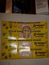 City of aurora waste stickers 4 of them in Bolingbrook, Illinois