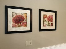 Set of Framed Poppy Prints in The Woodlands, Texas