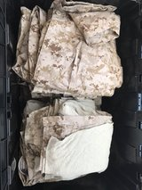 lots of military uniforms and items in Yucca Valley, California