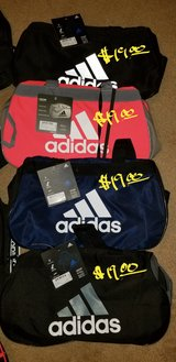 "Adidas athletic gym bags [18""L x 11""W x 12""H] in Camp Lejeune, North Carolina"
