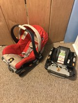 Chico infant car seat & base for car plus an extra base in Naperville, Illinois