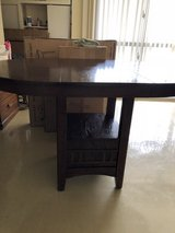 Bad height dinning table w/ removable leaf in Okinawa, Japan