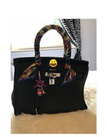 Famous Designer Inspired Birkin style color black handbag in Ramstein, Germany