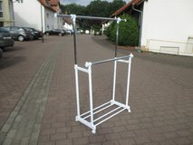 garment rack / dual clothes rail with wheels in Ramstein, Germany