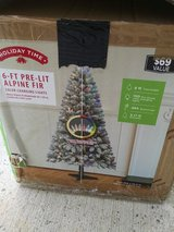 6ft prelit flocked Christmas tree in Fort Drum, New York