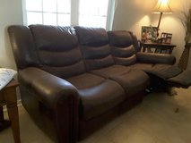 Leather recliner sofa in Camp Lejeune, North Carolina