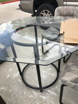 "42"" glass breakfast table & 4 chairs in Kingwood, Texas"