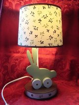 Baby Nursery Child Bedroom Bunny Rabbit Bedside Electric Lamp Woodland Tones in Lockport, Illinois
