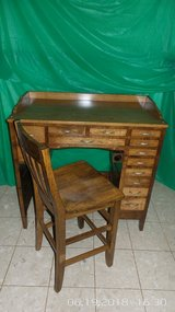 Antique Watchmaker's Desk with Chair in Chicago, Illinois