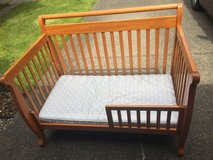 Toddler bed w/ mattress in Fort Lewis, Washington