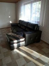 FREE- Dark Brown leather couch in Ramstein, Germany