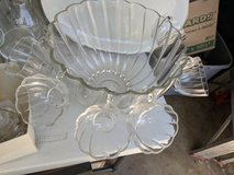 Scalloped Punch bowl with mugs in Chicago, Illinois