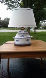 Blue and white lamp in Shorewood, Illinois